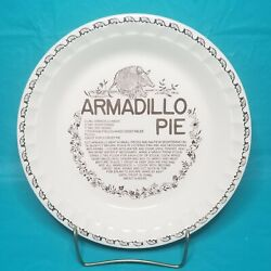 Vintage Armadillo Pie Plate With Printed Recipe By Royal China Company 11