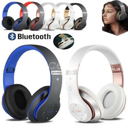 Wireless Headphones Bluetooth Headset Noise Cancelling Over Ear With Microphone $18.99
