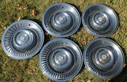 Nice Set Of Five / 1963 1964 Cadillac Deville 15 Hubcaps Wheel Covers Oem