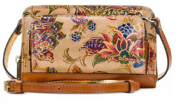 Patricia Nash French Tapestry Andria Crossbody Wallet Phone Case Italian Leather $99.99