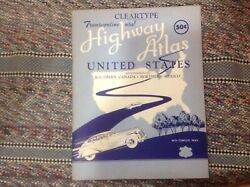 Old Vintage Official Vacationandhighway Atlas United States,s Canada,n.mexico1444