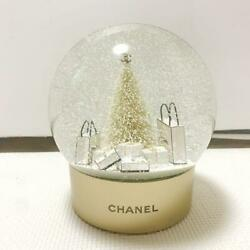 Snow Globe Xl White Christmas Tree Gold Aa Batteries For Store Displays