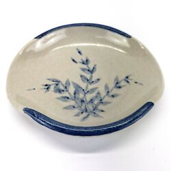 Redwing Pottery Stoneware Trinket Dish With Floral Design