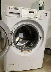Lg White Front Load Washer Coin Op, 120v 60hz 5a, S/n107kwat59568 [refurb.]