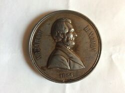 1865 Abraham Lincoln Assassination W/ Medal By H.key 51mm