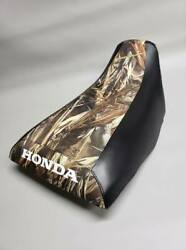 Honda Trx300 Fourtrax Seat Cover In Drt W/ Black Sides Or Any 2-tone Combo St