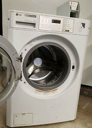 Lg White Front Load Washer Coin Op, 120v 60hz 5a, S/n 302kwsb8p246 [refurb.]