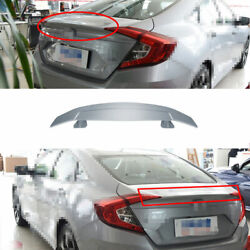 Fit For 2016-2020 Honda Civic Abs Silver Rear Boot Spoiler Gt Airplane Wing Flap
