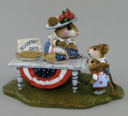 Wee Forest Folk Retired 4th Of July Pie Fest Only Made For 3 Months In 2008