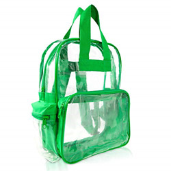 DALIX Clear Backpack Bags Smooth Plastic Transparent See Through Turtle Green $19.55