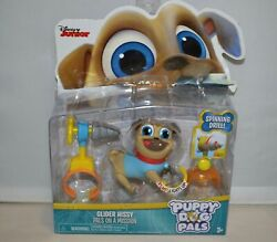 Disney Jr Puppy Dog Pals Miner Rolly Lights Up / Factory Print Error Collectible