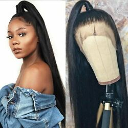 US 18 24inch Glueless full lace wigs Party Women 1B Silky Straight Full Head $56.69