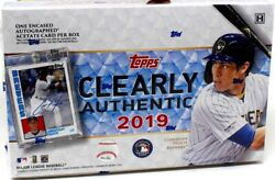 2019 Topps Clearly Authentic Baseball 20 Box Case Blowout Cards