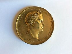 France Napoleon restoration Of The Monarchy 1830 gold Plated Copper Medal 52mm