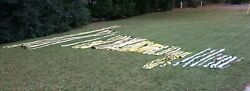 Huge Lot Of 49 Miscellaneous Sized And Type Rigging Slings All In Good Condition