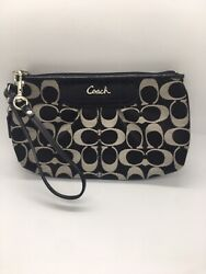 wristlet coach purse Authentic Black And Beige Lenght 8 Inches Height 5.5 $42.00