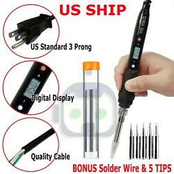 Electric Soldering Iron Gun Adjustable Temperature 80W Welding Set Tool Kit 110V