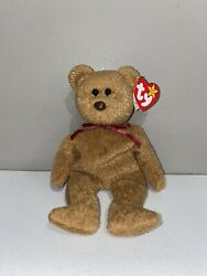 Rare Ty Beanie Babies Curly The Bear Plush With Manufacture Errors