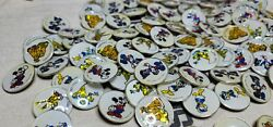 Lot Of 100 Vintage Disney 1 Holographic Bubble Pins 5 Assorted -made In England