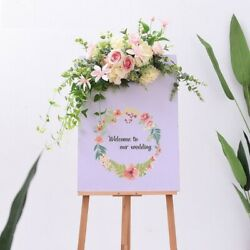 Artificial Flower Diy Wedding Props Welcome Card Hotel Water Floral Road Decor