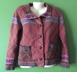 Coldwater Creek Brown Jacket Coat Size Small Women's
