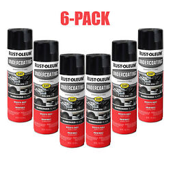 CAR RUBBERIZED UNDERCOATING SPRAY PAINT Black 15 oz Rust Oleum Automotive 6 PACK