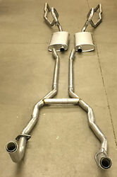1969-71 Lincoln Mk Iii Exhaust System 304 Stainless With Resonators