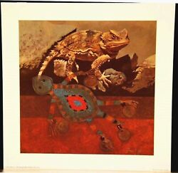 Sand Lizard Charm 10 By 10 Inch Ron Fanner Signed Print