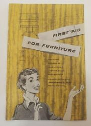 Vintage Johnson Wax Brochure First Aid For Furniture Cleaning Suggestions