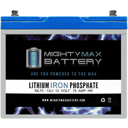 Mighty Max 12v 75ah Lithium Battery Replaces Pride Mobility Quantum Blast Xtreme