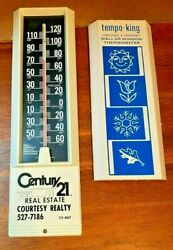 Vintage Plastic Advertising Wall Thermometer Century 21 Real Estate