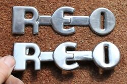 Reo Speed Wagon Truck Emblems Name Plates
