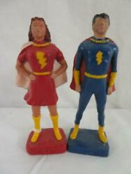 1946 Mary Marvel And Captain Marvel Jr. Syroco 5 Figure Resin Statue Set