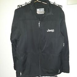 Outer Boundary Black Jeep Embroidered Mens Medium Jacket.