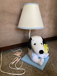 Plush Snoopy Woodstock Lambs And Ivy Nursery Lamp With Shade Blue Base