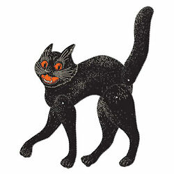 Jointed Scratch Cat Black