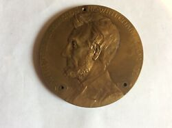 1809-1909 Abraham Lincoln Grand Army Of The Republic Bronze Medal 76mm