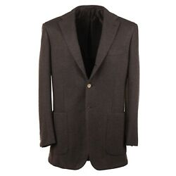 Kiton Slim Fit Soft-constructed Jersey Cashmere Sport Coat 42r Eu 52
