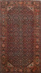 Antique Pre-1900 Vegetable Dye Sarouk Farahan Hand-knotted Area Rug Wool 4'x7'