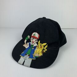 Rare 1998 Pokemon Ash And Pikachu Embroidered Hat Nintendo Licensed
