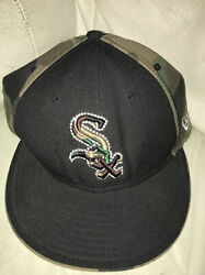 Chicago White Sox New Era 59fifty Camo Wool Blend Fitted Hat Cap 7 3/8