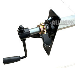 Dump Truck Trailer Hand Crank Manual Pull Tarp Roller Kit 5and039 To 8and039 Wide New