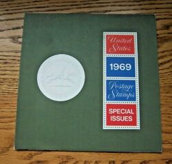 1969 Usps Special Issues Mint Year Set W/ Folder Htf High Catalog Value 180