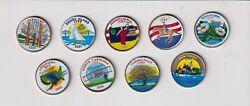 U.s. Painted State Quarters Lot 9
