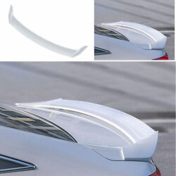 For 18-2020 Honda Accord 10th Abs White Mugen Outer Rear Boot Spoiler Wing Flap