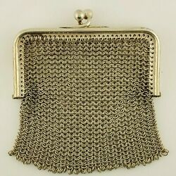 Antique Silver Weaved Coin Purse
