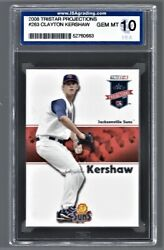 2008 Tristar Projections Clayton Kershaw Dodgers 263 Rookie Isa 10 52760663
