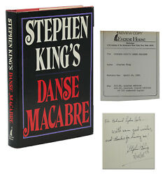 Danse Macabre Signed By Stephen King First Edition 1st 1981 Review Copy