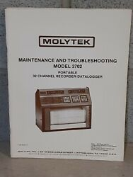 Molytek Maintenance And Troubleshooting Model 3702 Portable 32 Channel Recorder