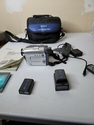 Sony Handycam Dcr-dvd201 Camcorder Bundle - All Authentic And Working